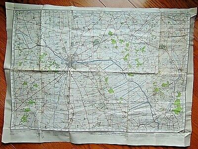 "1940 ORIGINAL 22"" x 30"" WW2 ""LINCOLN"" UK WAR OFFICE MAP"