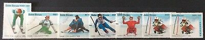 World Stamps Guine-Bissau 1988 Line 7 Calgary Olympics Exc CTO Stamps (B4-64)