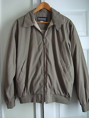 Aberdeen Collection Men's Windbreaker Jacket Size M, Taupe Color