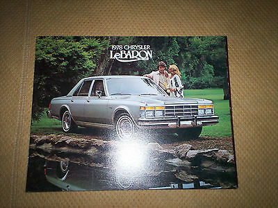 1978 Chrysler LeBaron  DEALER SALES BROCHURE  Town & Country   MOPAR