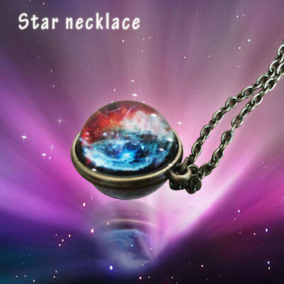 Universe In A Necklace Glass Pendant Necklace Jewelry Galaxy Glass Ball