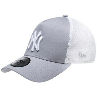 New Mens New Era Grey New York Yankees Trucker Cotton/Polyester Cap Baseball