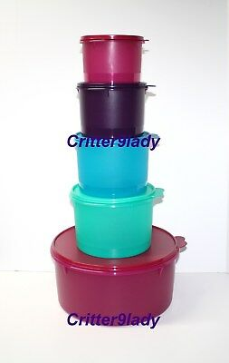 NEW Tupperware Stacking Canister 5 pc Set with Giant Canister