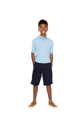 NEW French Toast Boys' Short Sleeve Stretch Sport Polo Wicking Fabric S(6/7)
