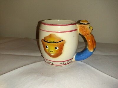 """Vintage Smokey The Bear """" F Is For Forests"""" Child Mug/cup"""