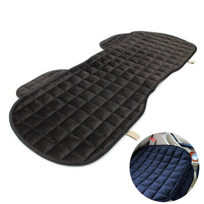 Universal Car Plush Seat Cover Universal Front Back Protector Rear Cushion Black