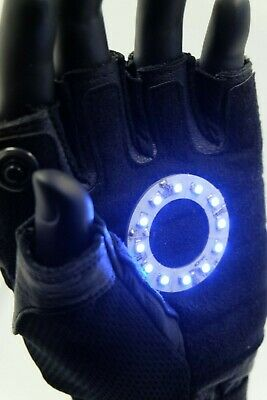 Led Iron man glove , Color led: Blue  Right Hand