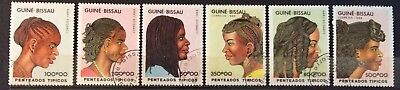 World Stamps Guine -Bissau 1989 Line 6 Stamps Traditional Head Dress CTO (B9-5)