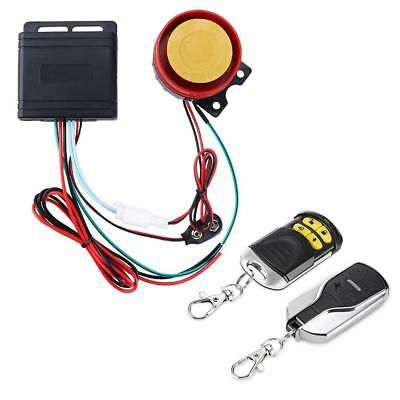 12V Anti-theft Motorcycle Alarm System Remote Control Fine^