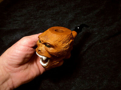 Smoking pipe Mystical Monkeys cherry exclusive hand carving