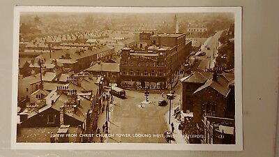 Postcard of Hartlepool. Old vintage cards. Christ Church View.