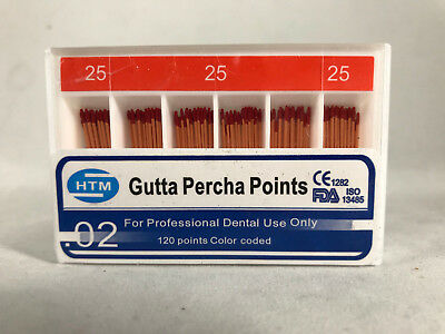 HTM Gutta Percha Points 0.04, 0.06, 0.02 Special Tapered All Sizes Available