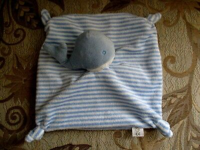Boots Mini Club Stripe Whale Comforter Baby Blanket Blue