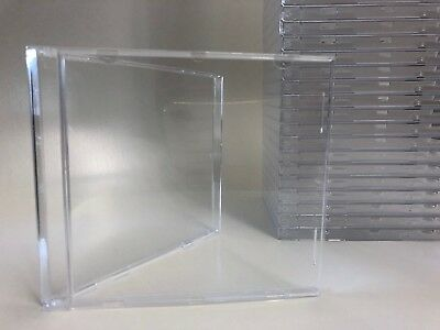400 Stück CD-Hüllen OHNE Tray Jewelbox transparent klar. Made in Germany