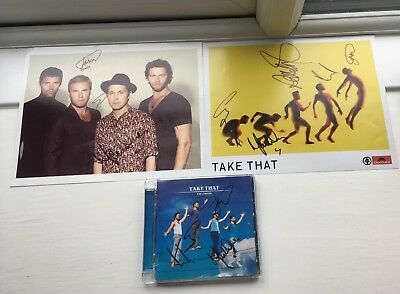Take That Original Signed Prints and CD Cover