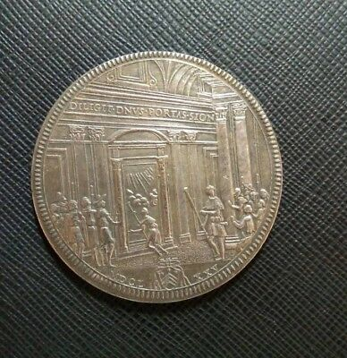 Coin 1 piastres 1675 Clement 10 Italy Vatican
