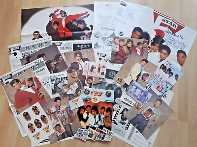 5 FIVE STAR - MEGA RARE OFFICIAL FAN CLUB PACK incls BADGES POSTERS NEWSLETTERS