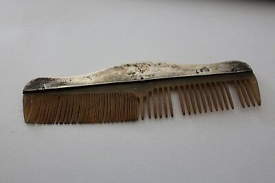vintage sterling silver hair comb dated 1942