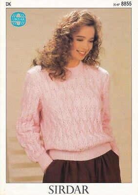 Sirdar Country Style DK Knitting Pattern 5374 Women/'s Sweaters 30-44/""