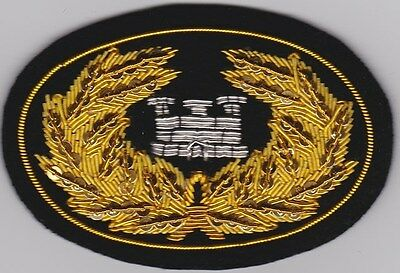Civil War Slouch Hat Insignia Engineer Officer's Large w/ Free $20 Double Eagle