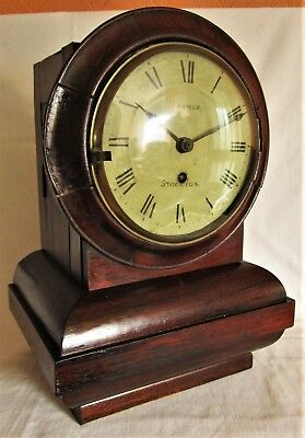 Antique Early 19th Century Fusee Bracket Mantel Clock by Farmer of Stockton