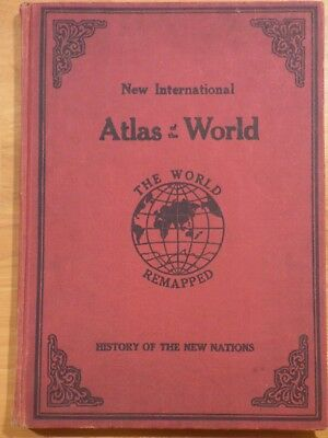 New International Atlas of the World, 1940, World Remapped,Census, Maps, History