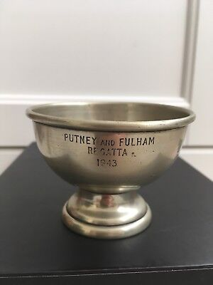 Putney And Fulham Regatta Cup 1943 Maid In England E.P.N.S