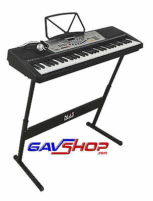 NEW 61 Key Digital Electronic Keyboard, stand & Headphones FREE DELIVERY