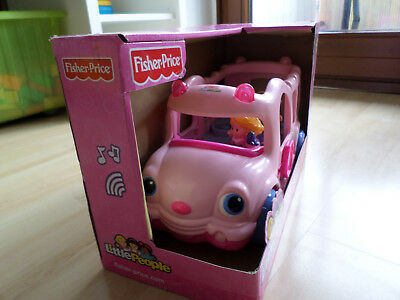 Fisher Price Little People Schulbus rosa OVP