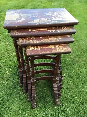 Antique Very Early Chinoiserie Nested Tables