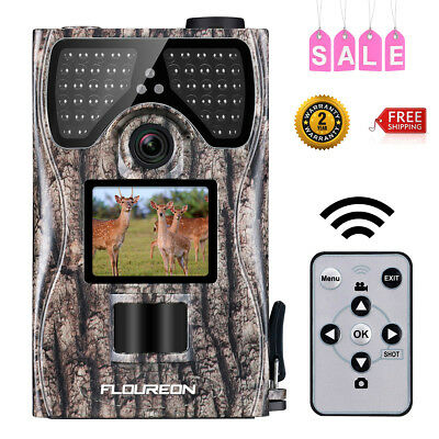 Full HD 1080P 12MP 120 ° Trail Camera Video Wildlife IR Hunting Cam Night Vision
