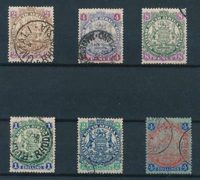 [38728] South Africa Rhodesia 1896 Good lot Very Fine used stamps