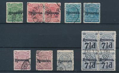 [38743] Rhodesia 1909 Good lot Very Fine used stamps