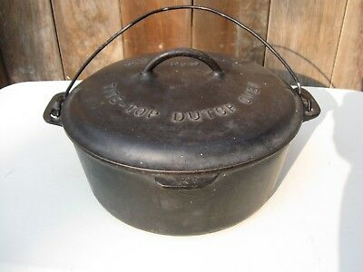 Antique Griswold No.9 Cast Iron Tite-Top Dutch Oven