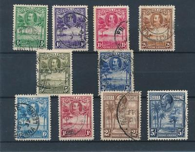 [38921] Sierra Leone 1932 Good lot Very Fine used stamps