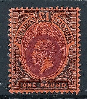 [38980] Southern Nigeria 1912/13 Good RARE stamp Very Fine MH Value $275