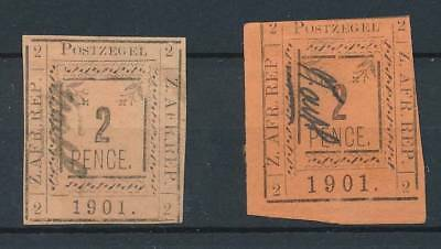 [39046] Transvaal 1901 Two good stamps Very Fine Mint No Gum