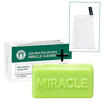 Some By Mi AHA BHA PHA 30 Days MIRACLE Cleansing Bar + Bubble Pouch