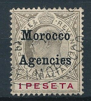 [39249] British Morocco 1905/6 Good stamp Very Fine used Value $85
