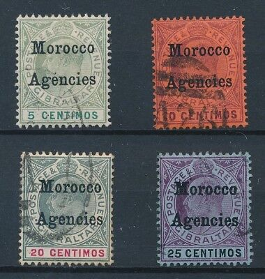 [39251] British Morocco 1905/6 Good lot Very Fine used stamps