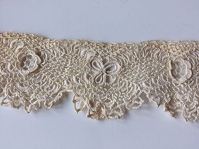 Antique Edwardian Lace Irish Doll Salvage Fragment Victorian Blythe Trims