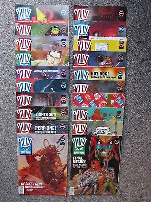 2000AD weekly progs, 20 issues, (759 to 778, 1991/2)