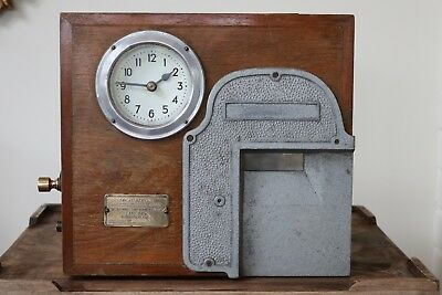 EARLY MAHOGANY CASED THE NATIONAL TIME RECORDER Co LTD TIME RECORDER BIRMINGHAM