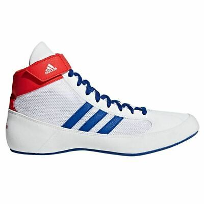 Adidas Havoc Wrestling Shoes Boxing Boots Trainers Pumps Mens Adults White Blue
