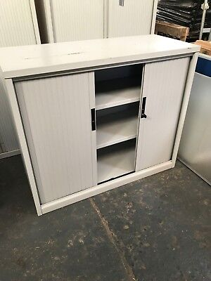 TAMBOUR DOOR STEEL OFFICE STORAGE CUPBOARD 1 number (004)