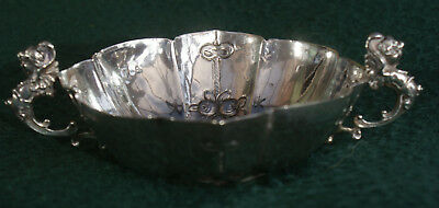 Hallmarked London 1897 Embossed Silver Bowl 67 Gramms