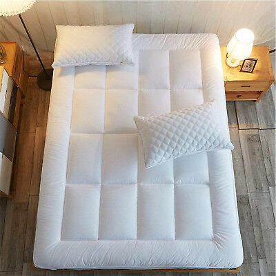 Queen Size Mattress Pad Cover Memory Foam Pillow Top Topper Thick Luxury Bed
