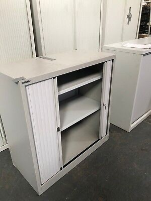 TAMBOUR DOOR Bisley STEEL OFFICE STORAGE CUPBOARD 1 number (005)