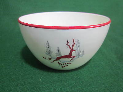 Vintage 1950's Crown Devon Stockholm Red Leaping Deer Sugar Bowl (tea set size)