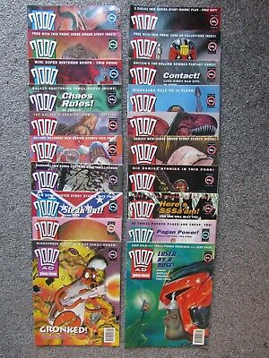 2000AD weekly progs, 20 issues, (799 to 818, 1992/3)
